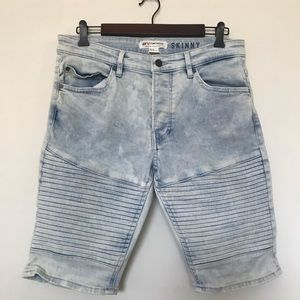 H&M Collection Coachella Denim Skinny Shorts 32